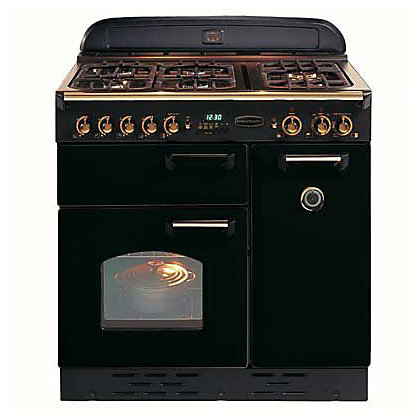 Image for Rangemaster Classic 73430 90cm Natural Gas Cooker - Black & Chrome from StoreName