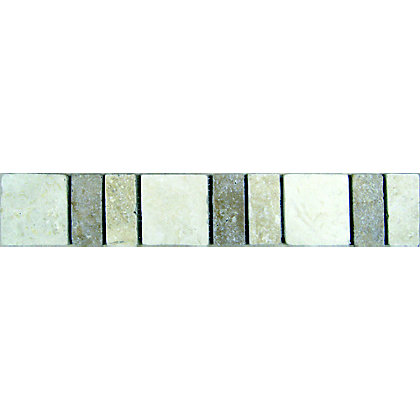 Image for Edinburgh Marble Strip Wall Tiles - Beige - 305 x 48mm - 6 Pack from StoreName