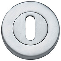 Door Lock Escutcheon Pack - Satin Chrome - 1 Pair