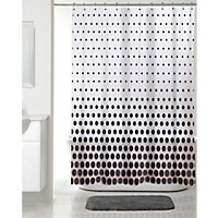 Graduated Spot Shower Curtain - Black - 180 x 180cm