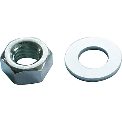 Image for Hex Nut & Washer - Bright Zinc Plated - M8 - 10 Pack from StoreName