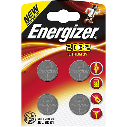 Image for Energizer CR2032 Coin Cell Battery 4 Pack from StoreName
