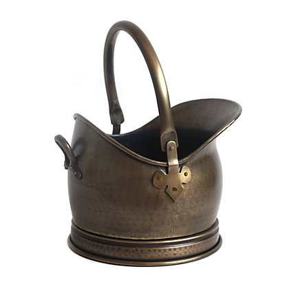 Image for Mansion Heritage Antique Brass Medium Coal Hod from StoreName