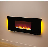 wall mounted fires electric gas flueless at homebase. Black Bedroom Furniture Sets. Home Design Ideas