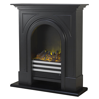 Image for Adam Lincoln Electric Fireplace Suite from StoreName
