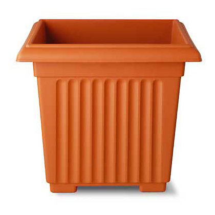 Image for Square Corinthian Terracotta Plant Pot - 40cm from StoreName