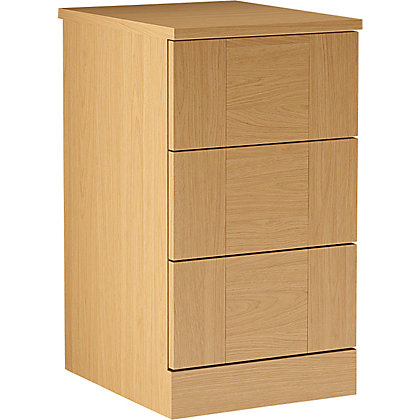 Image for Schreiber 3 Drawer Narrow Chest - Oak Shaker from StoreName