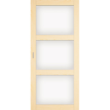 Image for Maple and white glass sliding door HDR from StoreName