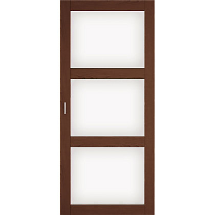 Image for Walnut and white glass sliding door HDR from StoreName