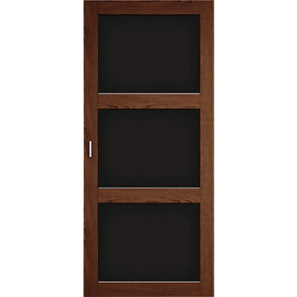Image for Walnut and black glass sliding door HDR from StoreName
