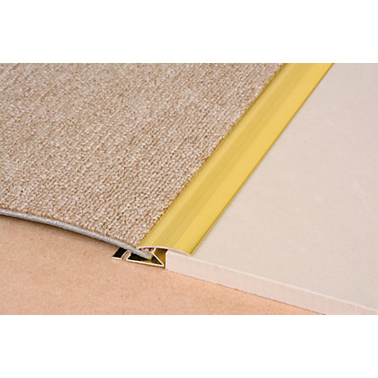 Image for Vitrex Carpet to Laminate Cover Strip Gold 0.9m (L) from StoreName