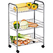 3 Tier Slim Kitchen Trolley - Chrome.