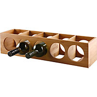 Living 10 Bottle Bamboo Wine Rack.