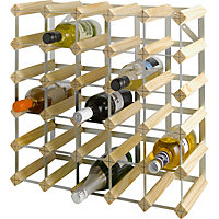 Living 30 Bottle Wooden Wine Rack.