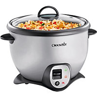 Crock-Pot 2.2 Litre Silver Saute Rice Cooker.