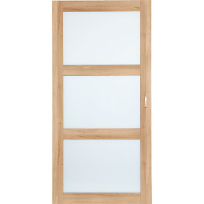 Image for Schreiber Shaker Glass Sliding Doors - Maple from StoreName