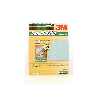 Image for 3M P80 SandBlaster Sandpaper - Medium - 3 Pack from StoreName