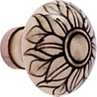 Black White Flower Knob - Ceramic