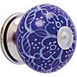 Printed Ceramic Knob - Blue