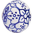 Printed Ceramic Knob - White