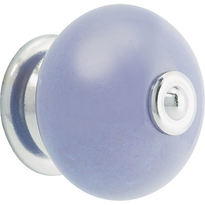 Image for Plain Ceramic Knob - Purple from StoreName