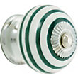 Swirl Ceramic Knob - Sea Green and White