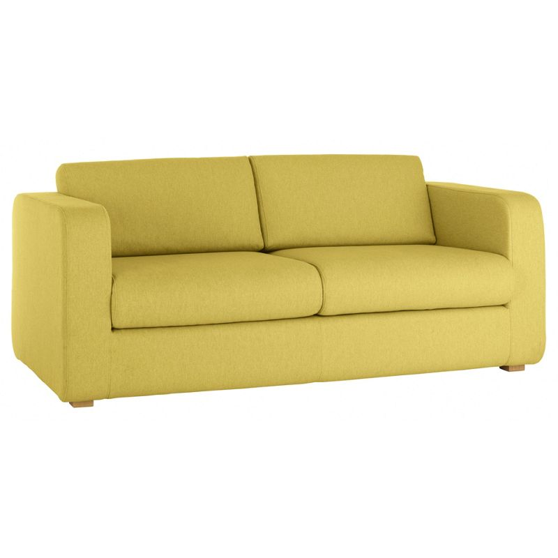 habitat porto yellow fabric 3 seat sofa. Black Bedroom Furniture Sets. Home Design Ideas