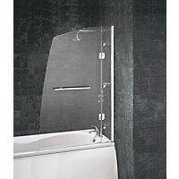 Aqualux Hinged Frameless Sail Luxury Shower Screen - 6mm glass