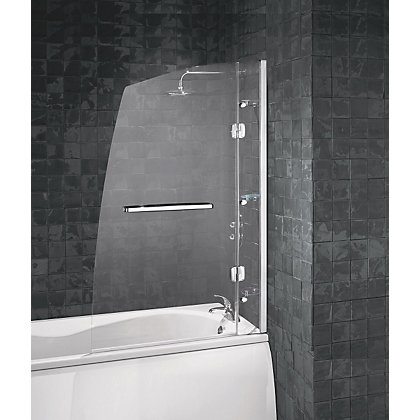 Image for Aqualux Hinged Frameless Sail Luxury Shower Screen - 6mm glass from StoreName