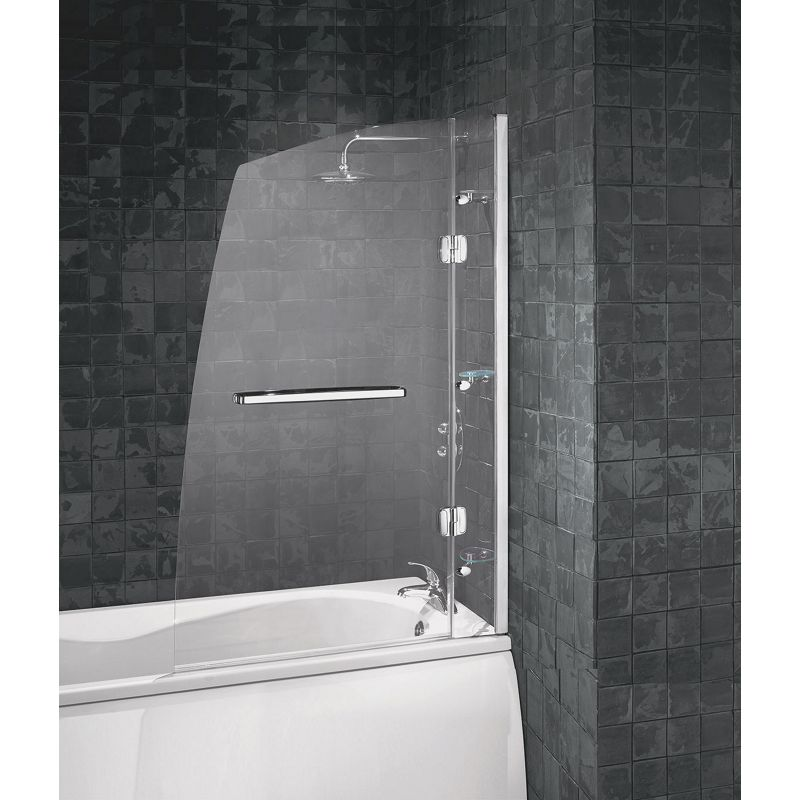 Sale On Aqualux Hinged Frameless Sail Luxury Shower Screen