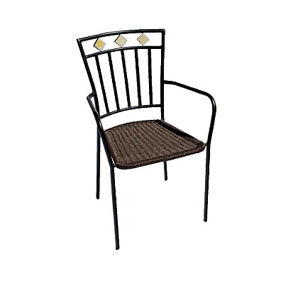 Europa leisure murcia chair set of two at homebase for Outdoor furniture homebase