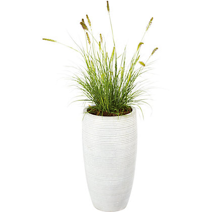 Image for Praa Grey Clay Plant Pot - 59cm from StoreName