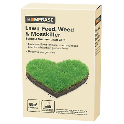 Image for Homebase Lawn Feed, Weed and Moss Killer Refill - 80sqm from StoreName
