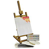 BiZiLi Acrylic Painting Box and Easel Set - 24 Pieces.