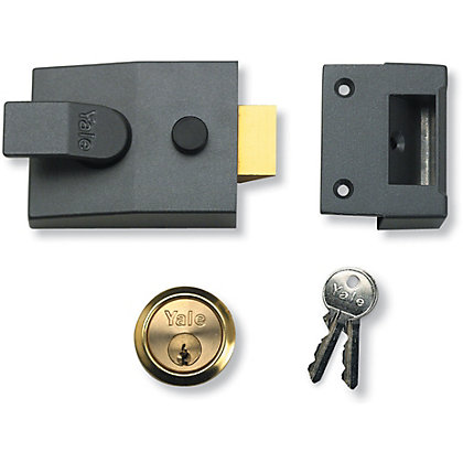Image for Yale 89 Deadlocking Nightlatch 60mm - Grey from StoreName