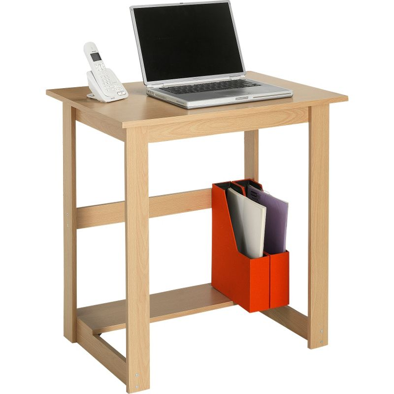 Beech computer desk sale clearance deals on oak pine glass finishes Argos home office furniture uk