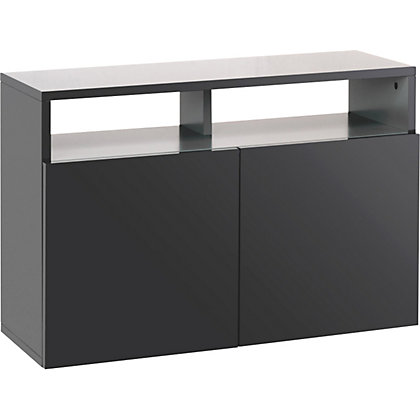 habitat kubrik small sideboard black. Black Bedroom Furniture Sets. Home Design Ideas