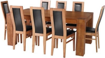 Living Warwick Oak Dining Table and 8 Black Chairs 163439  : 229126RZ001largeampwid800amphei800 from www.pricedropcity.uk size 800 x 800 jpeg 49kB