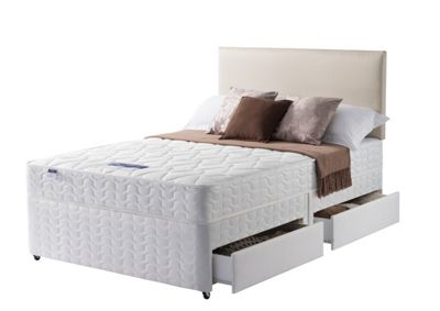 Image of Silentnight Travis Miracoil Double Divan Bed - 4 Drw.