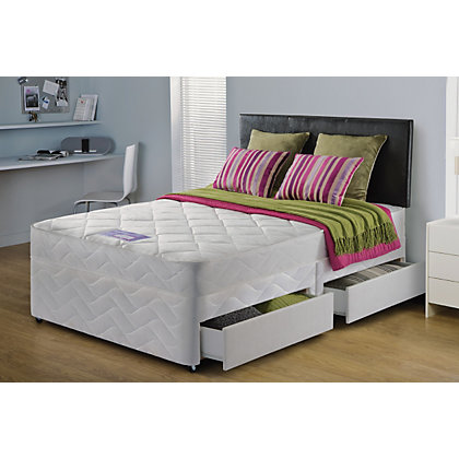 Layezee essentials calm microquilt double 4 drw divan bed for New double divan bed