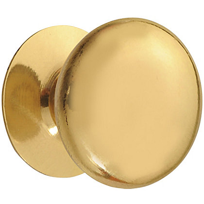 Image for Victorian Polished Brass Knob - Medium - 30mm from StoreName