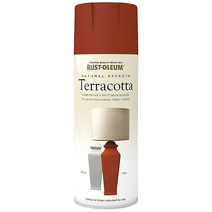 rust oleum natural effects spray paint terracotta 400ml. Black Bedroom Furniture Sets. Home Design Ideas