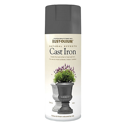 Image for Rust-Oleum Natural Effects Spray Paint - Cast Iron - 400ml from StoreName