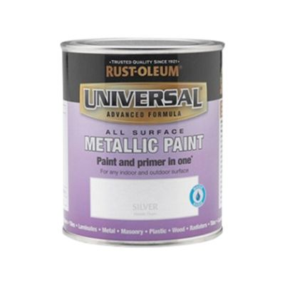 Rust-Oleum Universal All Surface Paint - Silver Metallic - 750ml