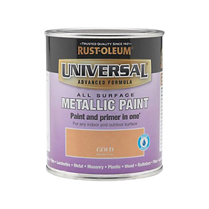 Image for Rust-Oleum Universal All Surface Paint - Gold Metallic - 750ml from StoreName