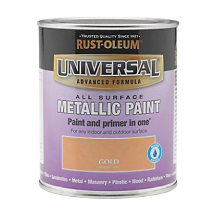 Image for Rust-Oleum Universal All Surface Paint - Gold Metallic - 250ml from StoreName