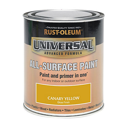 Image for Rust-Oleum Universal All Surface Paint - Canary Yellow - 250ml from StoreName