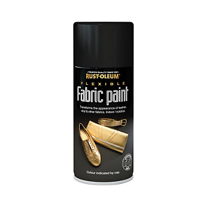Image for Rust-Oleum - Flexible Fabric Paint Black - Spray - 150ml from StoreName
