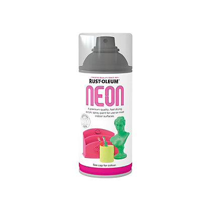 rust oleum neon paint green spray 150ml. Black Bedroom Furniture Sets. Home Design Ideas