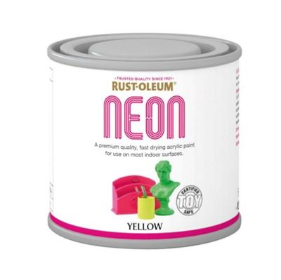 Rust-Oleum Neon Yellow Paint - 125ml